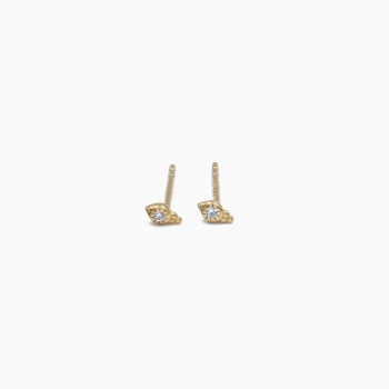 Boucles d'oreilles Cardiff or