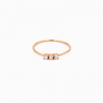 Ring Rome pink gold