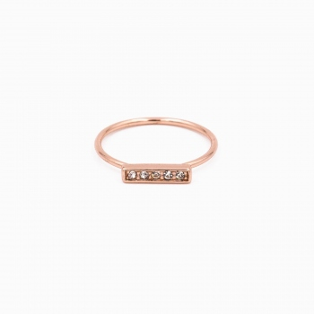 Bague Lisbon or rose