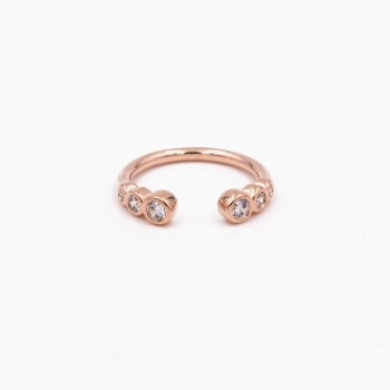 Bague Sydney or rose