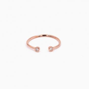 Ring Jakarta goud roze