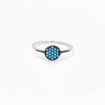 Ring Dubai silver blue
