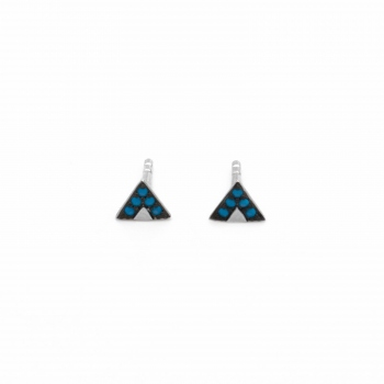Earrings Sao Paulo silver small blue