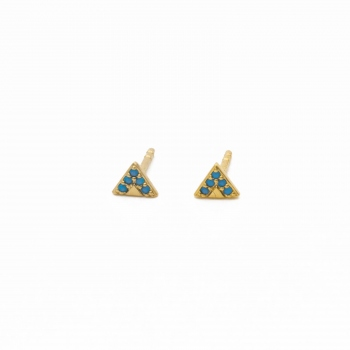 Earrings Sao Paulo pink gold small