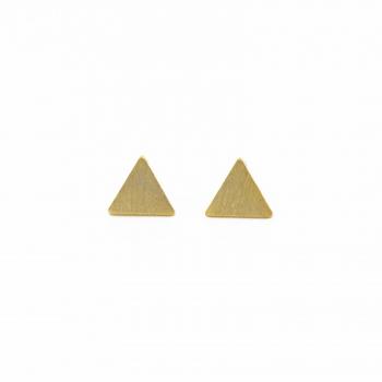 Pendientes Montreal plata triángulo