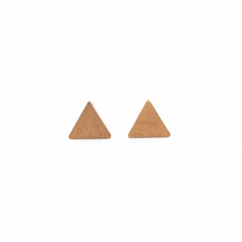 Earrings Montreal pink gold triangle