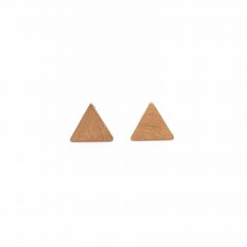 Pendientes Montreal oro rosa triángulo