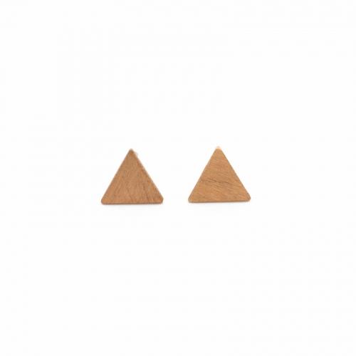 Pendientes Montreal oro triángulo