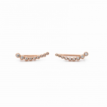Earrings Porto pink gold