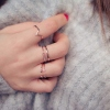 Bague Default or rose