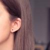 Boucles d'oreilles Default argent