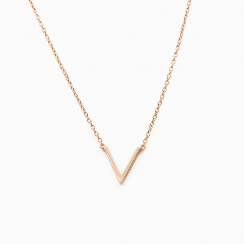 Necklace Vienna pink gold