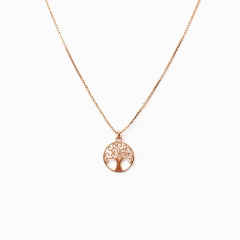 Collier Bologna or rose