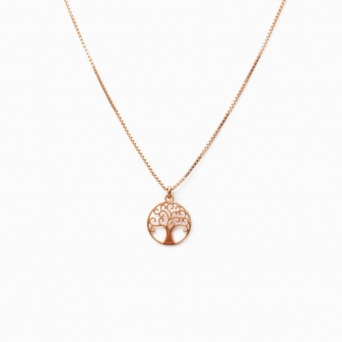 Necklace Bologna pink gold