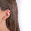 Boucles d'oreilles Cologne or