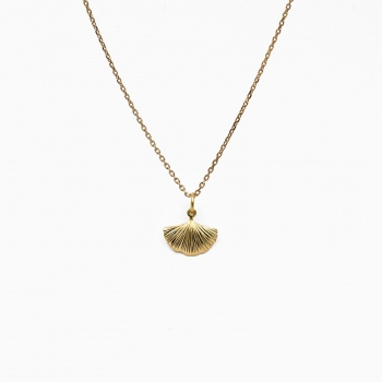 Necklace abanico gold